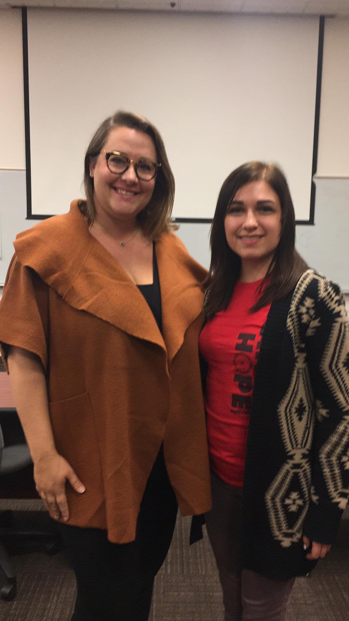Alexis at Task Force with Christina Sambor (Youth Works for the North Dakota Human Trafficking Task Force)