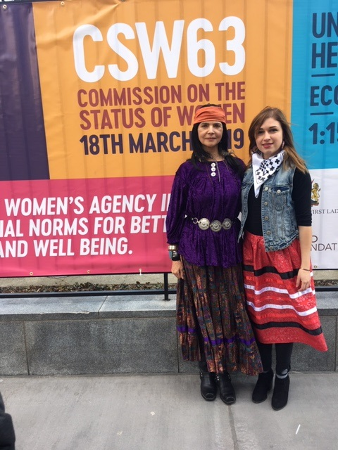 Indigenous Presenters Carmen and Alexis