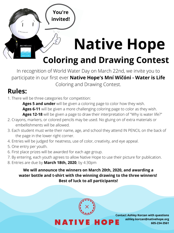 Native Hope Coloring Contest-1