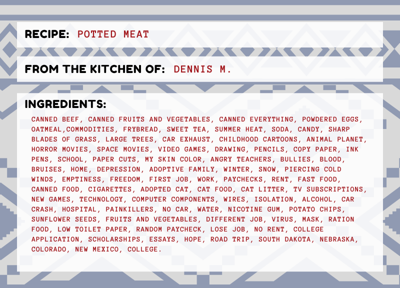 Potted Meat: The ingredients of a Native American male